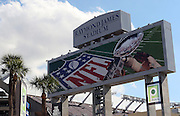 TAMPA, FL - JANUARY 27: General view of the exterior of the stadium scoreboard as the AFC Pittsburgh Steelers finish speaking to the media during Super Bowl XLIII Media Day at Raymond James Stadium on January 27, 2009 in Tampa, Florida. ©Paul Anthony Spinelli