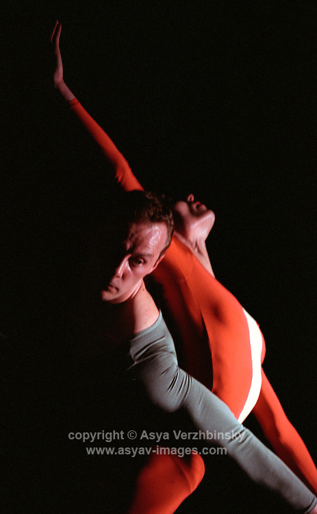 "Oxana Panchenko and Michael Nunn in Christopher Wheeldon's ""Mesmerics"". George Piper Dances."