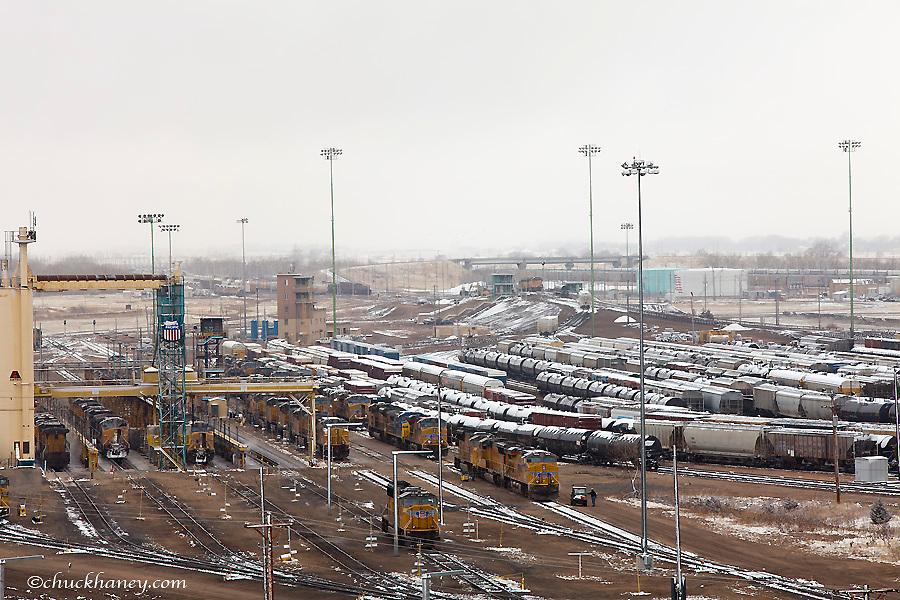 Union Pacific Bailey yard is the world's largest train yard in North Platte, Nebraska, USA