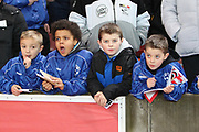 Autograph hunters during the Premier League match between Stoke City and Manchester City at the Bet365 Stadium, Stoke-on-Trent, England on 12 March 2018. Picture by Graham Holt.