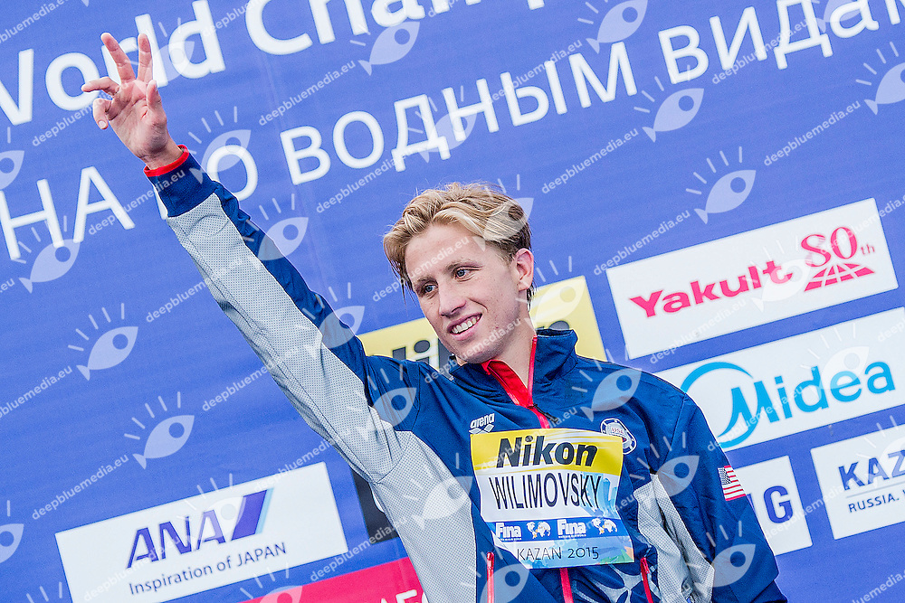 WILIMOVSKY Jordan USA<br /> Gold Medal<br /> Open Water 10km Men - Kazanka River<br /> Day04 27/07/2015<br /> XVI FINA World Championships Aquatics Swimming<br /> Kazan Tatarstan RUS July 24 - Aug. 9 2015 <br /> Photo A.Masini/Deepbluemedia/Insidefoto