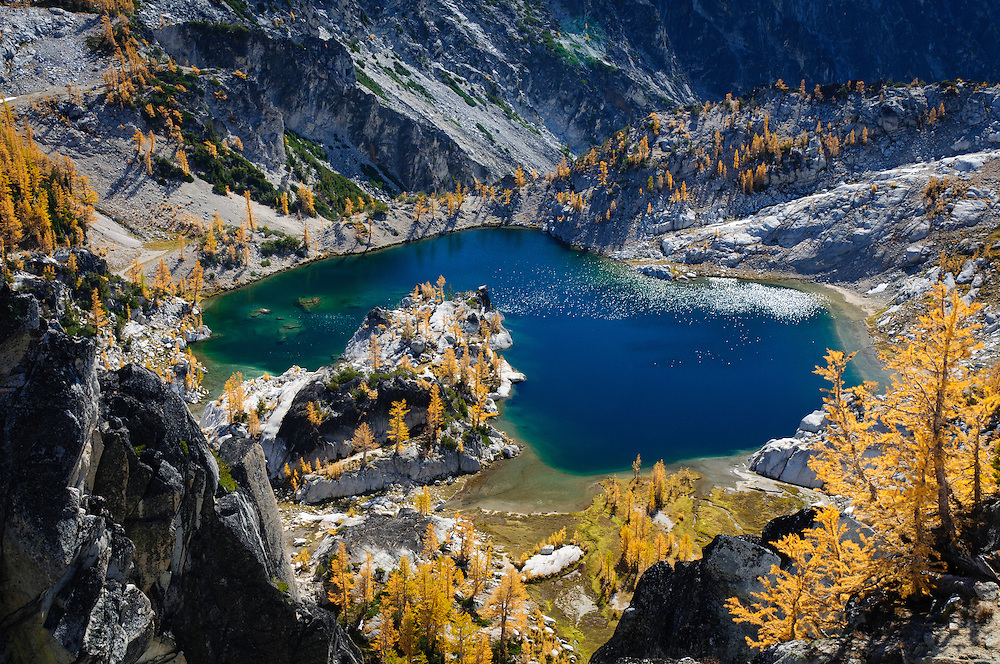 Crystal Lake in The Enchantments, Alpine Lakes Wilderness, Washington.