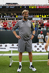 CHARLOTTE, USA - Sunday, July 22, 2018: Liverpool's manager Jürgen Klopp before a preseason International Champions Cup match between Borussia Dortmund and Liverpool FC at the  Bank of America Stadium. (Pic by David Rawcliffe/Propaganda)