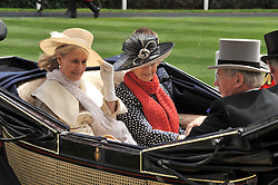 HRH the DUCHESS OF GLOUCESTER and PRINCESS ALEXANDRA at the Royal Ascot racing festival 2009 held on 17th June 2009.