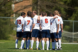 The North Carolina State Wolfpack defeated the Virginia Cavaliers 1-0 in NCAA Men's Soccer during a spring scrimmage at the Klockner Stadium practice field on the Grounds of the University of Virginia in Charlottesville, VA on April 4, 2009.