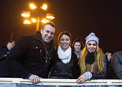 Fans during ice hockey match between HDD Telemach Olimpija and HDD SIJ Acroni Jesenice at Winter Classic of HDD Telemach Olimpija called Pivovarna Union Ice Fest 2014, on December 18, 2014 on Republic Square, Ljubljana, Slovenia. (Photo By Matic Klansek Velej / Sportida.com)