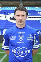 Yannick CAHUZAC - 09.10.2013 - Photo officielle Bastia 2013/2014 - Ligue 1<br /> Photo : Icon Sport