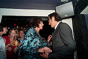 MERCEDES RUEHL; JEFF GOLDBLUM  The Old Vic at the Vaudeville Theatre ' The Prisoner of Second Avenue'  press night. After-party at Jewel. 13 July 2010. -DO NOT ARCHIVE-© Copyright Photograph by Dafydd Jones. 248 Clapham Rd. London SW9 0PZ. Tel 0207 820 0771. www.dafjones.com.