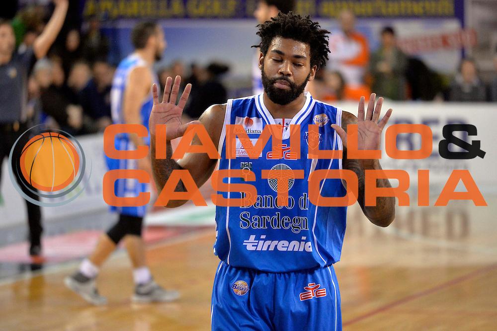 Trevor Lacey<br /> Germani Basket Brescia Leonessa - Banco di Sardegna Dinamo Sassari <br /> Lega Basket Serie A 2016/2017<br /> Montichiari, 05/02/2017<br /> Foto Ciamillo-Castoria