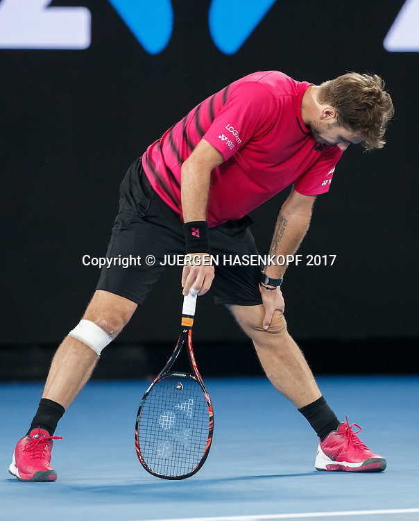 STAN WAWRINKA (SUI) reagiert enttaeuscht,Frust,Aerger,<br /> <br /> Australian Open 2017 -  Melbourne  Park - Melbourne - Victoria - Australia  - 26/01/2017.