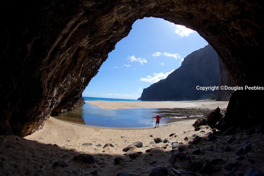 Sea Arch, Honopu Beach, Napali Coast, Kauai, Hawaii