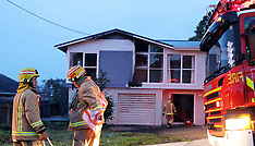 Auckland-School Road fatal stabbing house fire possible arson, Te Atatu