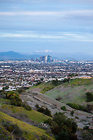 Scenic View of Downtown Los Angeles, Kenneth Hahn State Recreation Area, California