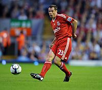 Jamie Carragher<br /> Liverpool 2009/10<br /> Liverpool V Aston Villa (1-3) 24/08/09<br /> The Premier League<br /> Photo Robin Parker Fotosports International