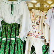 Typical Panamanian dresses made in the town of Rincon Santo in the region of Ocu, Province of Herrera, Republic of Panama.  Ocu is an area of the country well known for the fabrication of typical Panamanian dress.