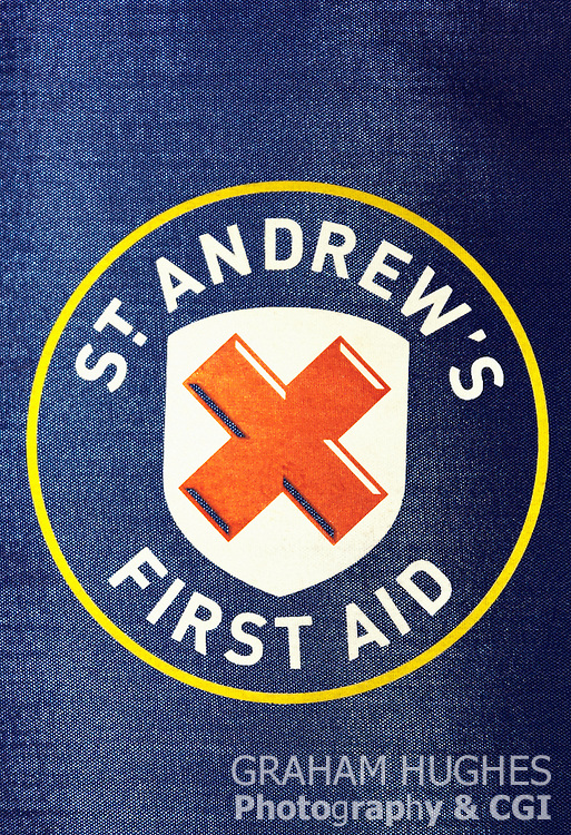 St Andrews First Aid Folder. For Editorial use only.