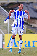 Brighton - Saturday 13th February, 2010: Elliot Bennett of Brighton & Hove Albion celebrates his goal against Norwich City during the Coca Cola League One match at The Withdean, Brighton...(Pic by Alex Broadway/Focus Images)