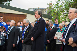 Bristol Rovers director, Barry Bradshaw attends the Memorial Service - Mandatory byline: Dougie Allward/JMP - 07966 386802 - 11/11/2015 - Memorial Stadium - Bristol, England- Memorial Service