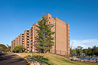 Architectural photography of Ravensworth Towers Apartments in Annandale VA by Jeffrey Sauers of Commercial Photographics.