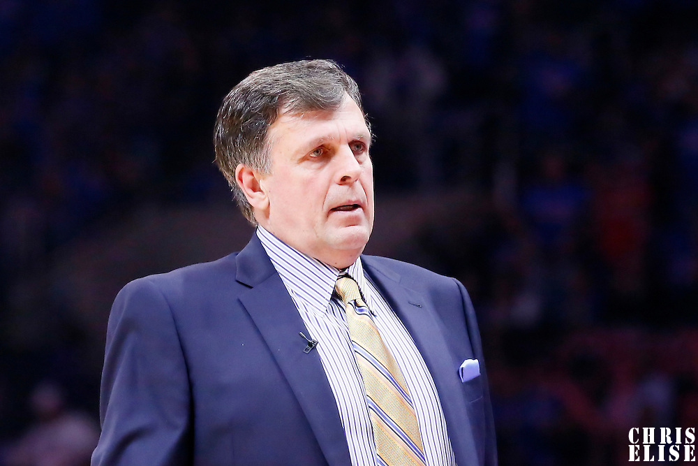 14 May 2015: Houston Rockets head coach Kevin McHale is seen during the Houston Rockets 119-107 victory over the Los Angeles Clippers, in game 6 of the Western Conference semifinals, at the Staples Center, Los Angeles, California, USA.