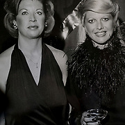 MIAMI BEACH, FLORIDA - NOVEMBER 20, 2015: <br /> Copy of photo showing Louise Sunshine, left, a powerful real estate developer who worked for Donald Trump for  15 years starting in the 70's  and rose to Senior Vice President, with Ivana Trump, Donald Trump's ex-wife. Sunshine keeps several mementos of her time with Trump in her house. (Photo by Angel Valentin/Freelance)