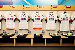 General views of the Edinburgh Rugby changing room prior to kick off - Mandatory by-line: Ryan Hiscott/JMP - 05/10/2019 - RUGBY - Cardiff Arms Park - Cardiff, Wales - Cardiff Blues v Edinburgh Rugby - Guinness Pro 14