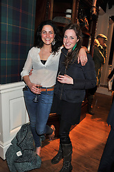 Left to right, sisters VICTORIA FAQUHAR and ROSE FARQUHAR at a party hosted by TLC to celebrate signing their 5000th member and Ralph Lauren to celebrate the opening of the first Ralph Lauren Rugby store in the UK at 43 King Street, Covent Garden, London on 30th November 2011.