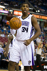 November 29, 2009; Sacramento, CA, USA;  Sacramento Kings forward Jason Thompson (34) during the first quarter against the New Orleans Hornets at the ARCO Arena. Sacramento defeated New Orleans 112-96.