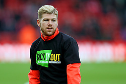 Alberto Moreno of Liverpool warms up wearing an anti racism Kick it Out T shirt - Mandatory by-line: Matt McNulty/JMP - 21/01/2017 - FOOTBALL - Anfield - Liverpool, England - Liverpool v Swansea City - Premier League