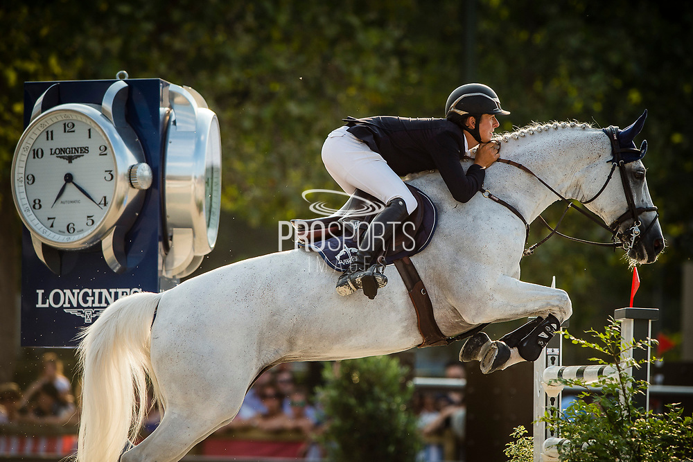 Paris, France : Bertram Allen riding Hector van d'Abdijhoeve during the Longines Paris Eiffel Jumping 2018, on July 5th to 7th, 2018 at the Champ de Mars in Paris, France - Photo Christophe Bricot / ProSportsImages / DPPI