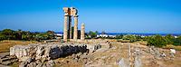 Grece, Dodecanese, Rhodes, ville de Rhodes, Akropoli, Acropole, le temple d'Apollon // Greece, Dodecanese, Rhodes island, Rhodes city, Akropoli, Apollon temple