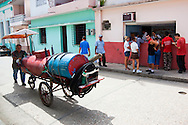Water delivery in Holguin, Cuba.