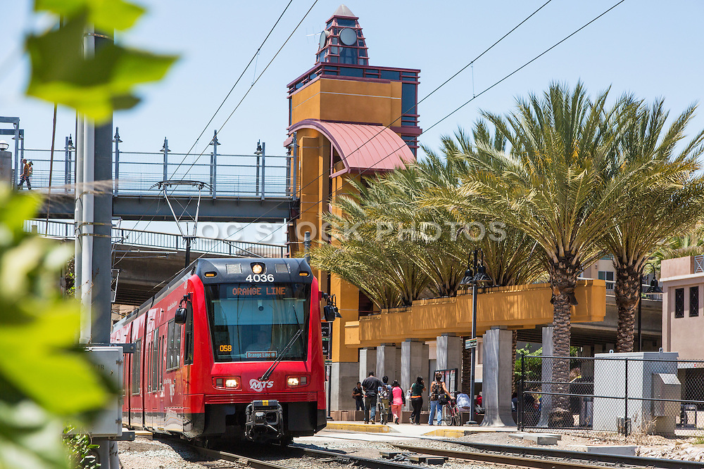 Red Trolley at Grossmont Transit Center