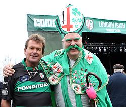 London Irish fans - Photo mandatory by-line: Robbie Stephenson/JMP - Mobile: 07966 386802 - 28/03/2015 - SPORT - Rugby - Reading - Madejski Stadium - London Irish v Newcastle Falcons - Aviva Premiership