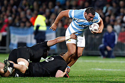 Argentina's Augustin Creevy, right, tackled by New Zealand's Dane Coles, centre and Ardie Savea in the Investic Rugby Championship Test match at Yarrow Stadium, New Plymouth, New Zealand, Saturday, September 09, 2017. Credit:SNPA / Dean Pemberton  **NO ARCHIVING**