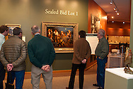 The Russell, C.M. Russell Museum Sale, Great Falls, Montana, 2011, viewing American Storytellers by Andy Thomas, sold $65,000