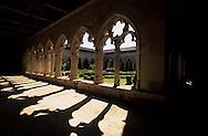 la Romieu village cloister and collegiale. Gers - France