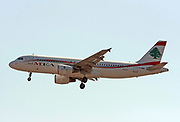T7-MRB MEA - Middle East Airlines Airbus A320-214 at Malpensa (MXP / LIMC), Milan, Italy