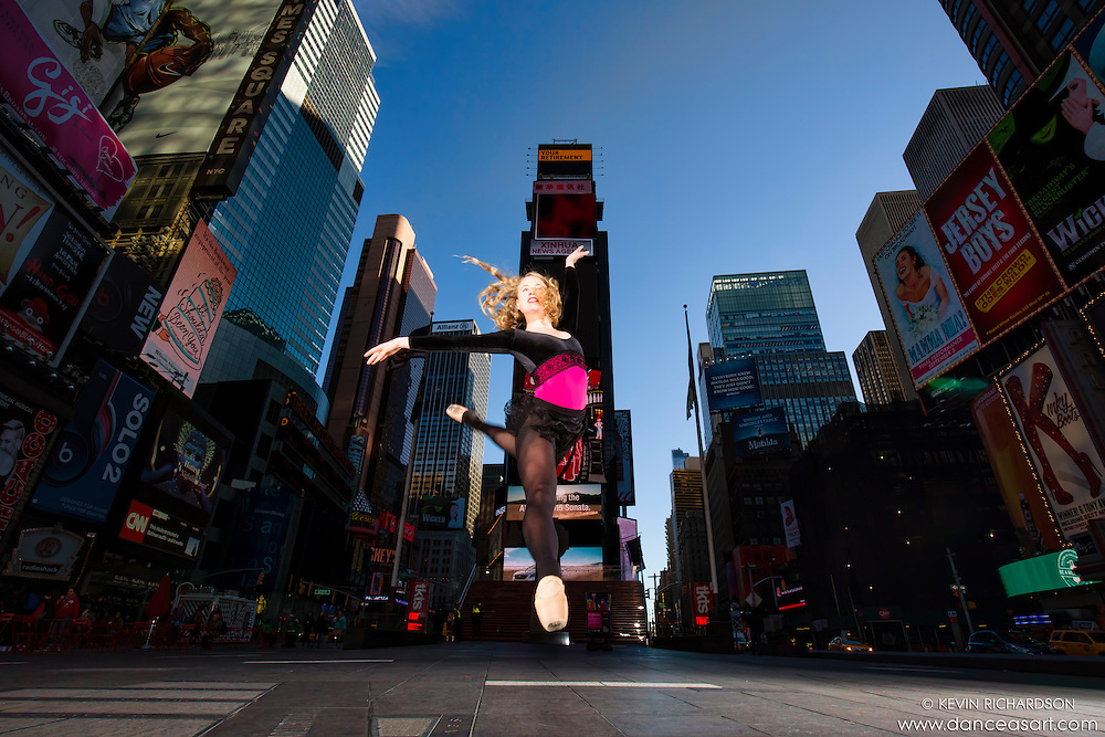 Times Square Dance As Art- The New York City Dance Photography Project featuring ballerina Sigrid Glatz