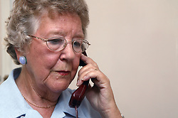 Woman making a telephone call,