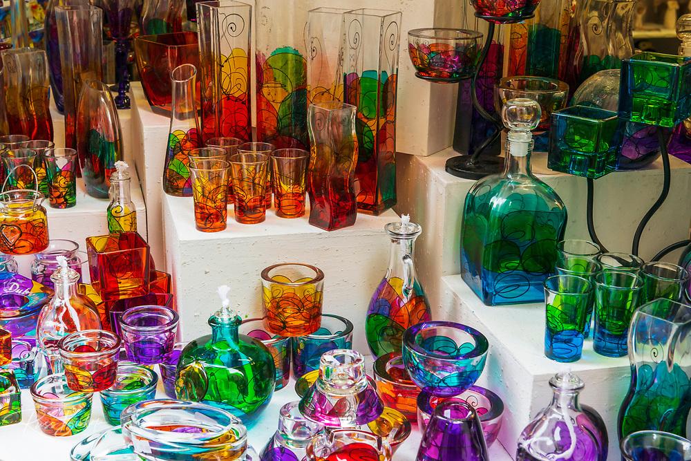 Glassware in a shop, Dubrovnik, Dalmatian Coast, Croatia