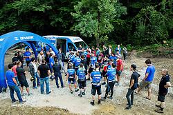 Presentation of professional MTB Unior Tools Team during opening of Bike Park Ljubljana on June 16, 2015 in Ljubljana - Podutik, Slovenia. Photo by Vid Ponikvar / Sportida