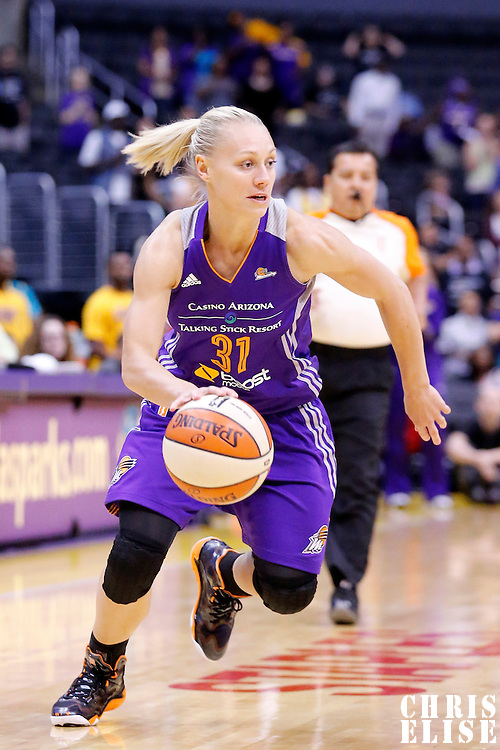 18 May 2014: Phoenix Mercury guard Erin Phillips (31) drives to the basket during the Phoenix Mercury 74-69 victory over the Los Angeles Sparks, at the Staples Center, Los Angeles, California, USA.