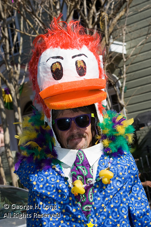 The Ducks of Dixieland celebrate Mardi Gras in the French Quarter and Faubourg Marigny of New Orleans