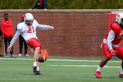 21 April 2018:    Bohlken Illinois State Redbirds Spring Scrimmage Football game at Hancock Stadium in Normal IL (Photo by Alan Look)