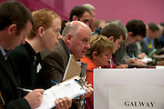Noel Grealish TD  at the  Count Centre at Leisureland where City County and European votes where separated Photo: andrew downes