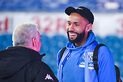 Kyle Bartley of West Bromwich Albion (5) arrives at the ground during the EFL Sky Bet Championship match between Leeds United and West Bromwich Albion at Elland Road, Leeds, England on 1 March 2019.