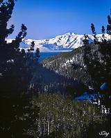 Lake Tahoe Landscape Winter Mountain Valley