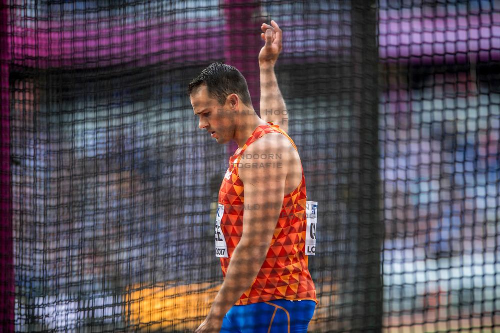 04-08-2017 IAAF World Championships Athletics day 1, London<br /> Erik Cadee NED Discus throw