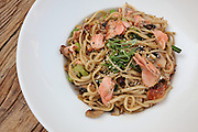 Stir fried Salmon noodles